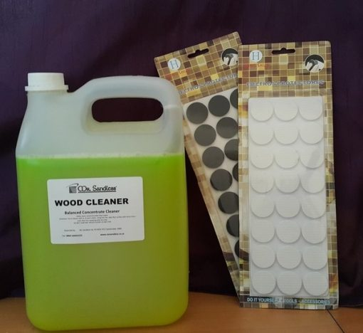 Mr Sandless 5 litre floor cleaner and wood floor protection pads